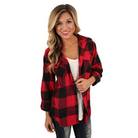 Cozy For Days Unisex Flannel in Red