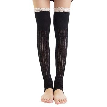 Women High Over The Knee Socks Thigh High Stockings Knitted Warm Japanese School Student Long Sock#LREW