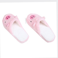 Hot Sale Women Plush Slippers Lovely Pig House Cute Girls Slippers   Warm House Slipper Female Soft Slippers Home Shoes Nov30