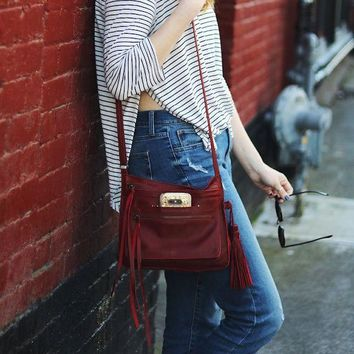 Media Lightweight Handmade Leather Crossbody Bag