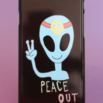 Peace Out Alien Phone Case
