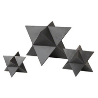 DwellStudio 3 Piece Star Matte Black Decorative Objet Set & Reviews | Wayfair