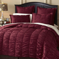Truffle Quilted Bedding - Cabernet
