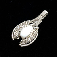 Pendant Sterling Silver Pearl Cab Wire Wrapped Handmade Jewelry