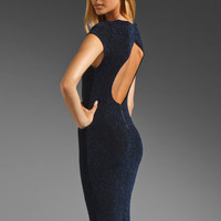Alice + Olivia Lanie Open Back Maxi Dress in Black/Blue from REVOLVEclothing.com