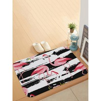 Flamingo Print Door Mat