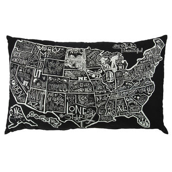 America the Beautiful Floor Pillow