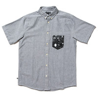 Quiet Life: Cosmos Oxford Pocket Short Sleeve Shirt - Grey