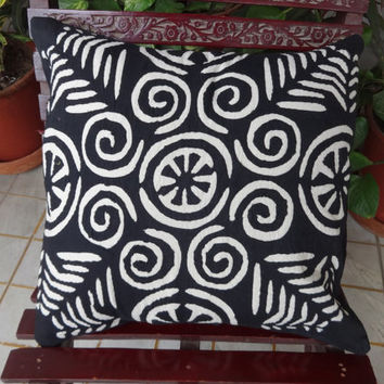 Applique Work Cushion Cover Set of 5, Indian Hand Cutwork Cushion,Traditional Cotton Cushion covers, 40 x 40 Cms Size, Home Decor India