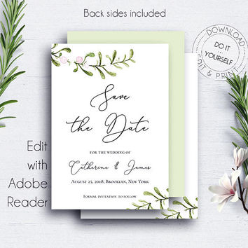 Winter Wedding Save Date Invitation, Engagement, Save the Date, Printable Save Date, Wedding, Invitation, Wedding Cards, Printable Wedding