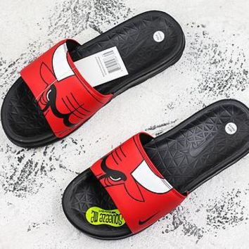 Nike Benassi Solarsoft Nba Chicago Bulls Slider Slipper - Best Deal Online