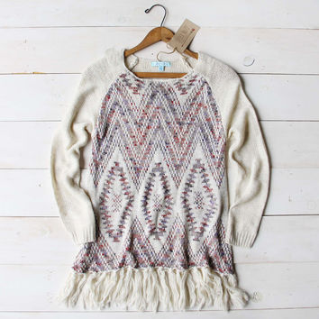 Sky Fringe Sweater