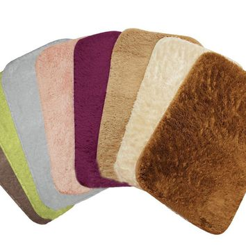 Luxury Bath Mat, Faux Fur, Soft Plush Rug, Latex Back