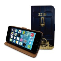 Beanbeancase 221b Sherlock Holmes Baker Flip Pu Leather Cover Case for iphone 6 Plus (K30)