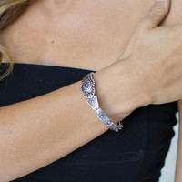 Dakota Stretch Silver Bracelet