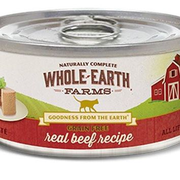 Whole Earth Beef Can Cat Food 24/2.75oz