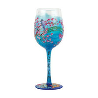 Lolita Cherry Blossoms Wine Glass