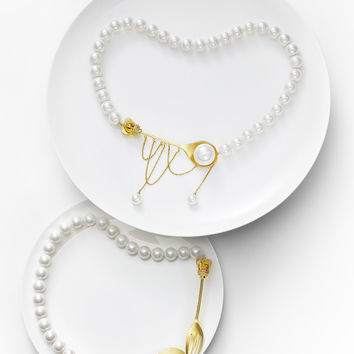 HEFANG JEWELRY Royal Tableware Series - Fork and Spoon Necklace