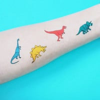 Dinosaur Temporary Tattoo -Colourful, Child Fun, Set of 2