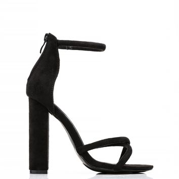 Don't Cross Me Heel - Black