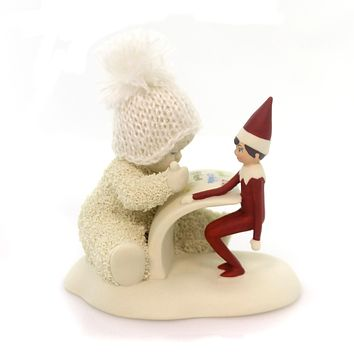 Dept 56 Snowbabies The Elf On Shelf Makes A List Christmas Figurine