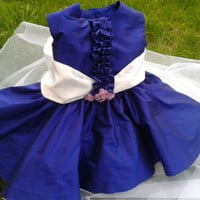 Baby dress special occasion , girl dress wedding flower girl , girl dress elegant occasion , baby royal blue dress , baby 24 months dress
