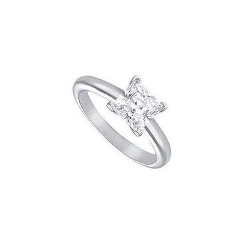 Diamond Solitaire Ring : Platinum – 2.00 CT Diamond