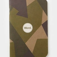 Word Notebooks Swedish Camo Notebook Green