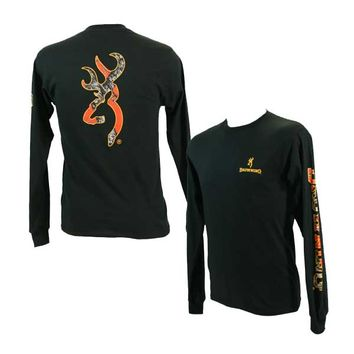 Browning Men's RT Blaze Buckmark Black Long Sleeve T-Shirt