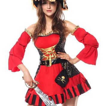 MOONIGHT Carnival Apparel Luxury Pirate Costume Cosplay Fancy Dress Adult Deguisement Halloween Costumes For Women