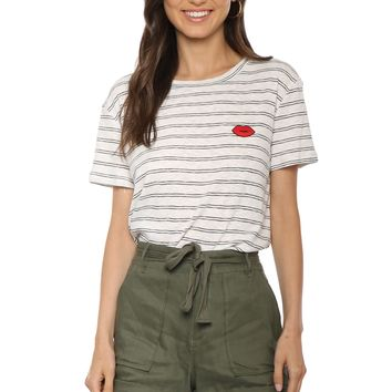 Sunday Stevens Sugar Lips Stripe Tee