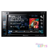 "Pioneer DDIN DVD Receiver with 6.2"" Display Bluetooth Siri Eyes Free SiriusXM-Ready HD Radio"