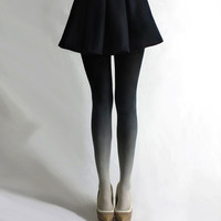 BZR - Dip Dye Tights in COAL
