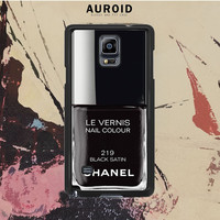Chanel Nail Polish Black Satin Samsung Galaxy Note 3 Case Auroid