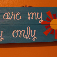 You are my sunshine pallet art
