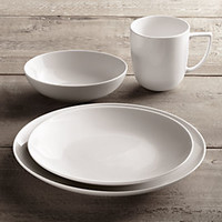 Chinese Porcelain Classic Coupe Dinnerware White | RH