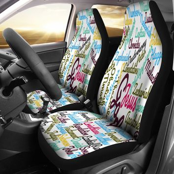 Custom-Made Holy Bible Books Car Seat Covers