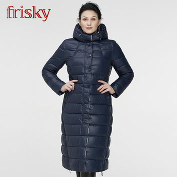 2017 Frisky New Women's Winter Coat Jackets Thick Warm Wind Down Jacket Female Fashion Casual Parkas Plus Size FR6622