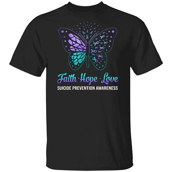 Faith Hope Love Butterfly Suicide Prevention Awareness