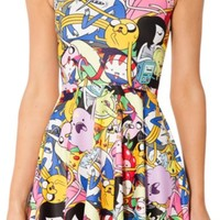 Women Adventure Time Bro Ball Colorful Skater Dress