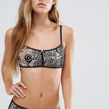 Calvin Klein Touch Underlined Bralette at asos.com