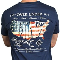 The Flyway Tee in Navy by Over Under Clothing