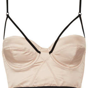 Satin and Velvet Strap Bralet