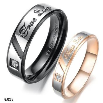LMFUG3 Titanium Stainless Steel Ring Set Wedding Valentine Couple Lover Engagement Band = 1930332548
