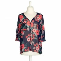 Petal Blouse Peach Blossom by RIFLE PAPER Co. | Imported