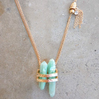 Stone & Sparkle Necklace [6774] - $24.00 : Feminine, Bohemian, & Vintage Inspired Clothing at Affordable Prices, deloom