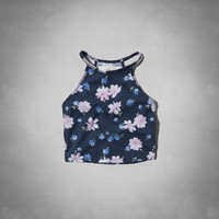 halter slim crop top