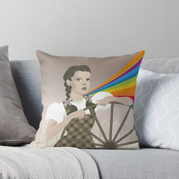 'Somewhere' Throw Pillow by Alejandro Mogollo Díez