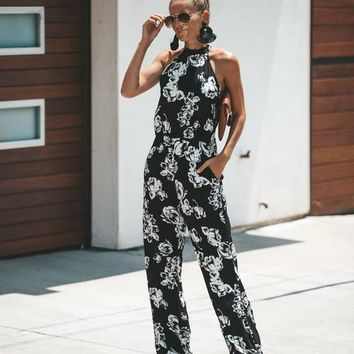 Encinitas Halter Pocketed Jumpsuit