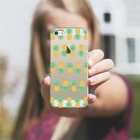 Pineapple Stripes - Transparent/Clear Background iPhone 5s case by Lisa Argyropoulos | Casetagram